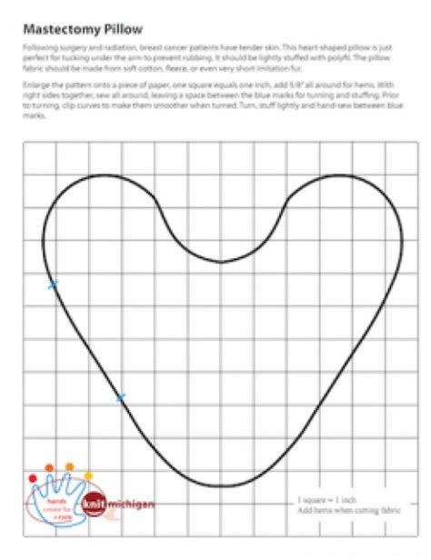 pattern for heart shaped cushion for breast cancer projects to sew for charities hubpages