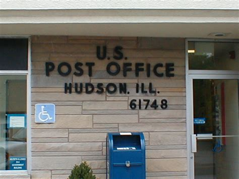 Post Office Hudson Fl hudson il hudson post office photo picture image