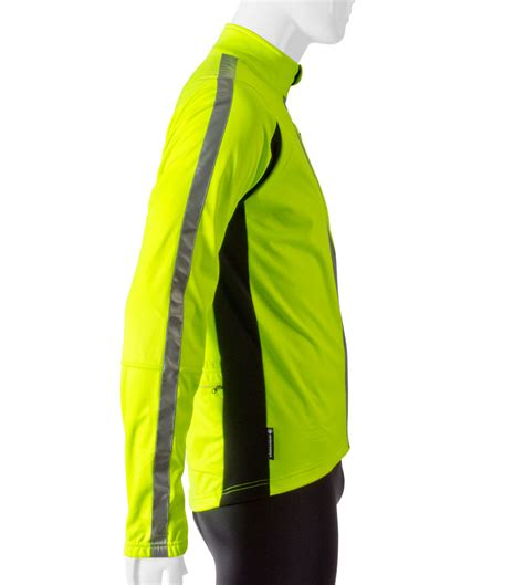 reflective bicycle jacket atd high visibility full zip softshell cycling jacket w 3m