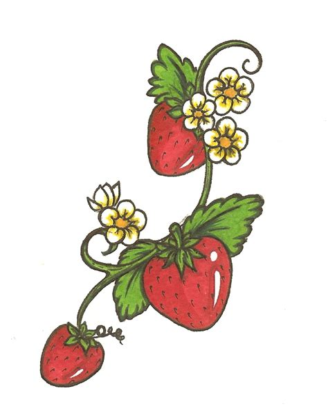 strawberry tattoos designs strawberry by bullettkat17 on deviantart