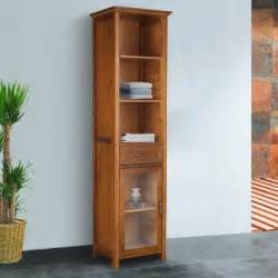 buy the oak finish linen tower bathroom storage cabinet with doors your clothing from theses