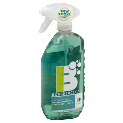 septic safe bathroom cleaners boulder clean bathroom cleaner foaming 4 in 1 multisurface lemon lime zest from