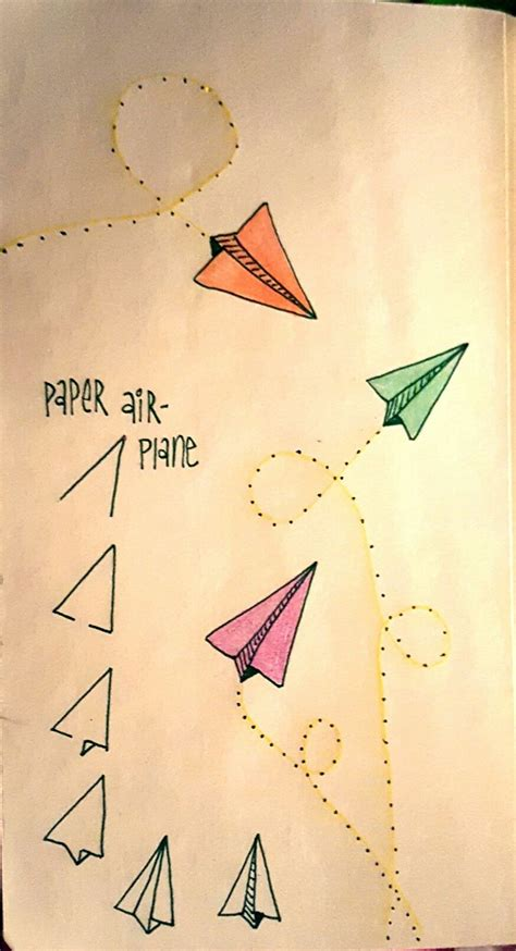 Cool And Easy Things To Draw On Paper Step By Step by Paper Airplanes Are To Draw Journal