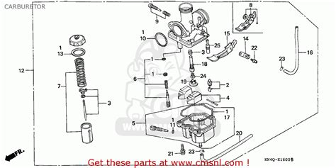 honda xr100r 2000 canada ref carburetor schematic