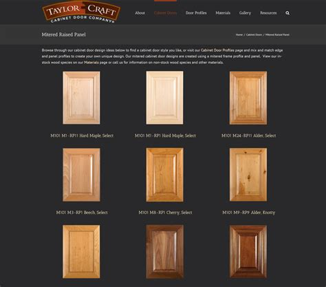 mitered cabinet doors mitered raised panel cabinet doors taylorcraft cabinet