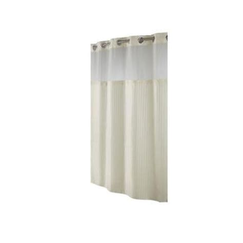 home depot shower curtains hookless shower curtain in beige herringbone rbh53my307