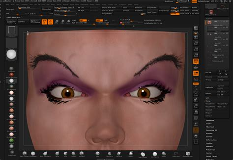 zbrush eyebrows tutorial 3d tip of the day zbrush eyebrows using fibermesh by