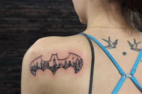 batman tattoo bats gotham skyline bat symbol tattoo i like the idea but i