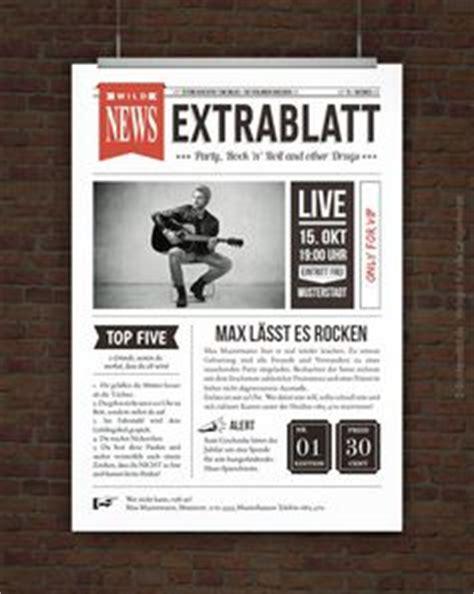 Word Vorlage Zeitungslayout 1000 images about geburtstagsvorlagen on vip tickets rock and retro