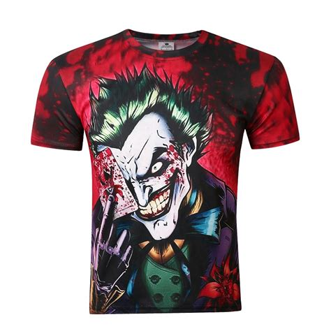 New Kaos 3d Joker 12 2016 new the joker 3d t shirt comics character joker with 3d t shirt summer style