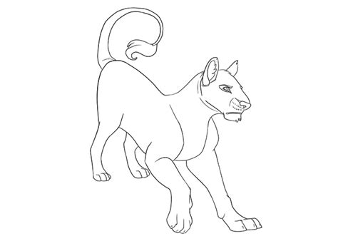 sketch lioness and her cubs coloring pages