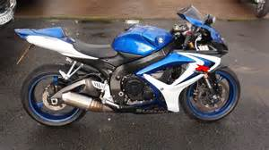 Suzuki Gsxr 600 Blue And White Suzuki Gsxr 600 K6 Blue And White 15092 With Height