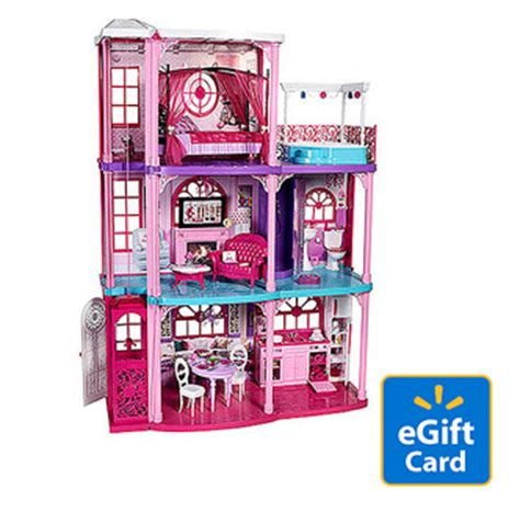 Walmart E Gift Card In Store - barbie 3 story dreamhouse 20 walmart egift card only 139 00 plus free in store