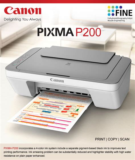 resetter of canon pixma p200 printer canon pixma p200 all in one inkjet fast printer
