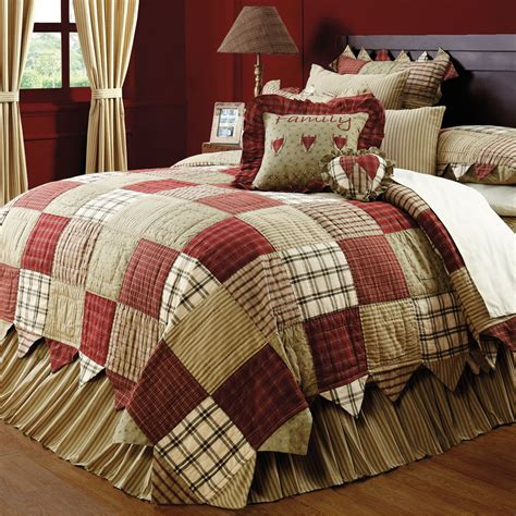 Large King Quilt by Country Patchwork Cal King Oversized Quilt