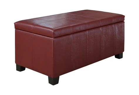 amazon leather storage ottoman amazon com simpli home dover rectangular storage ottoman