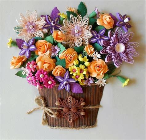 pattern for paper flower pot quilling by ada flower pot bouquet fleur pinterest