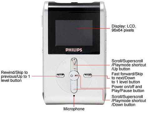 audio format hz philips hdd082 17 refurbished silver black 2 gb mp3 player
