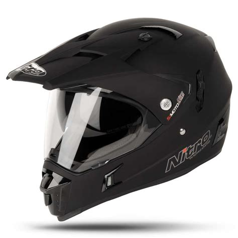 motocross helmets with visor nitro mx650 dual sport internal visor off road motorcycle