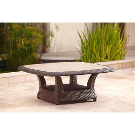 brown jordan highland patio chat table dy tqr