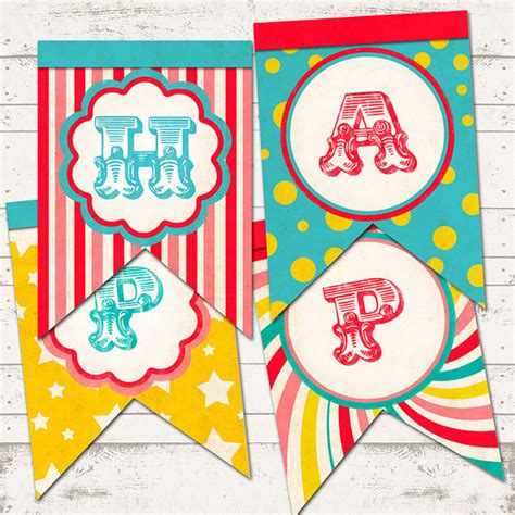 free printable vintage banner circus birthday double tails banner vintage inspired retro