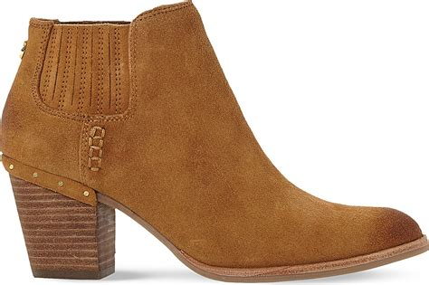 steve madden tinker suede ankle boots in brown lyst