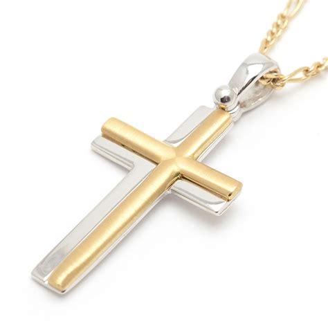 cadenas hombre oro blanco cruz de oro amarillo y oro blanco para hombre o ni 241 o de