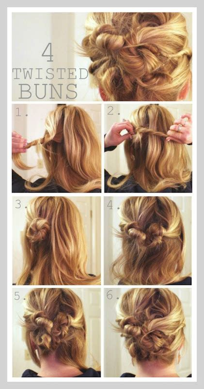 how to create messy hair with lots of volume four twisted messy buns missy sue