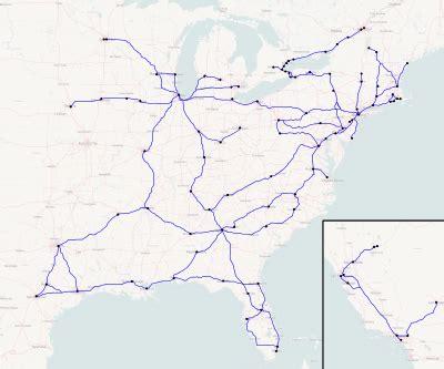 megabus usa route map megabus america
