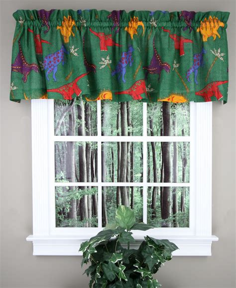 dinosaur curtains kids dino world valance dinosaur tailored valance discount