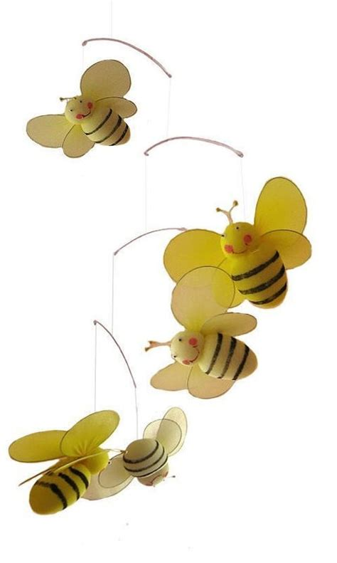Bumble Bee Nursery Decor Bumblebee Bumble Bee Mobile Child Nursery Room Decor Hanging Bedroom