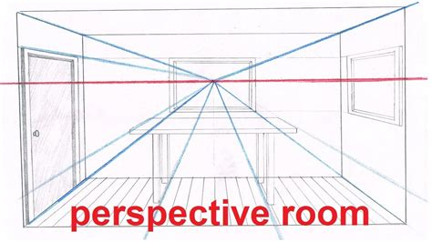 6 Drawing Lessons by Linear Perspective Drawing Lesson 5 6 Drawing A Room In