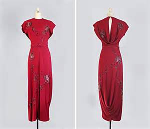 1940s dresses vintage 1940s dress 40s evening gown sequined draped