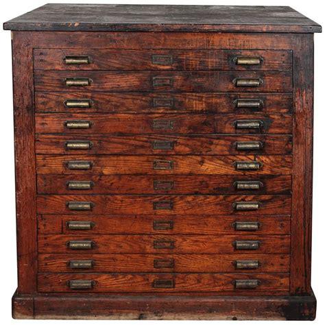 antique oak printer s flat file cabinet from a unique