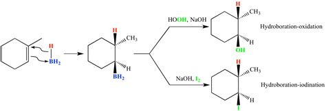 3 methylcyclohexene hydration illustrated glossary of organic chemistry hydroboration
