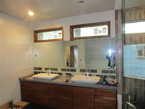 custom mirrors for bathrooms bathroom mirror with lighting cutouts la jolla patriot