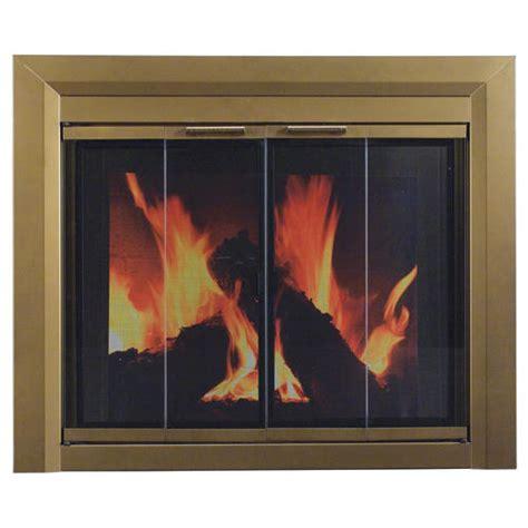 large bi fold style fireplace door at menards 174