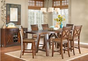 Rooms To Go Kitchen Furniture Mango 5 Pc Upholstered Counter Height Dining Room Dining Room Sets