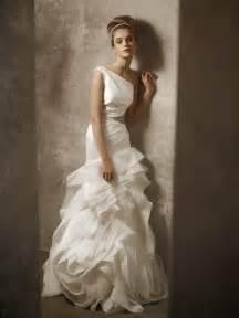 vera wang wedding dress one shoulder ivory drop waist wedding dress by white by vera wang onewed