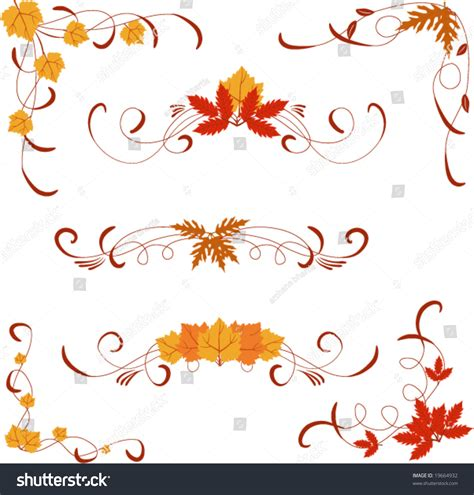 shutterstock design elements and layout different autumn design elements and corners stock vector