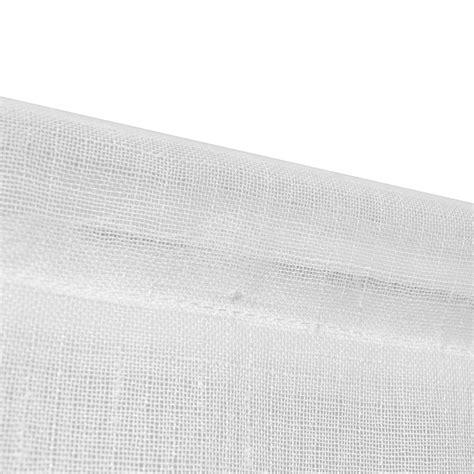 Curtains 60 X 90 2 Linen Look Sheer Kitchen Curtains 60 X 90 Cm White Vidaxl Co Uk