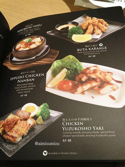 Menu Dan Udin Ramen Ippudo Ramen Hadir Di Central Park Mall Jakarta