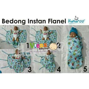 bedong instan flanel hanaroo viens baby shop toko perlengkapan bayi 100 murah