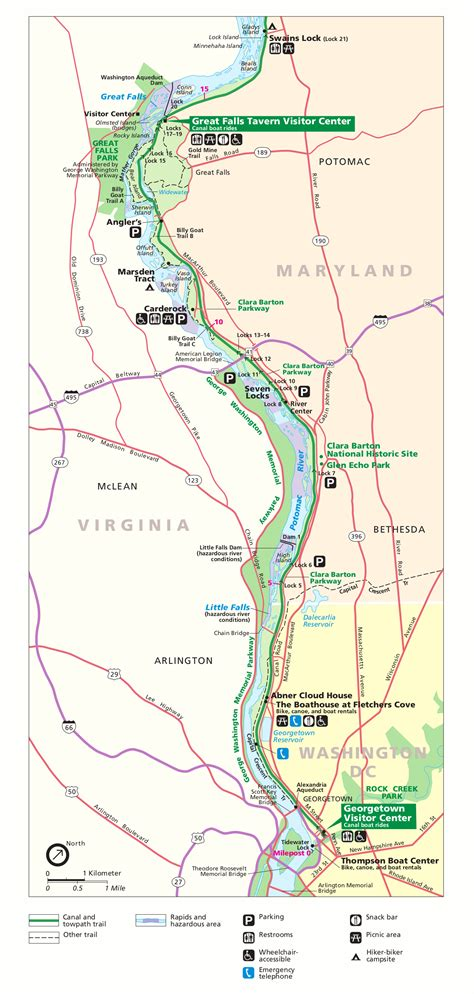 river gorge map file nps potomac river gorge map gif wikimedia commons