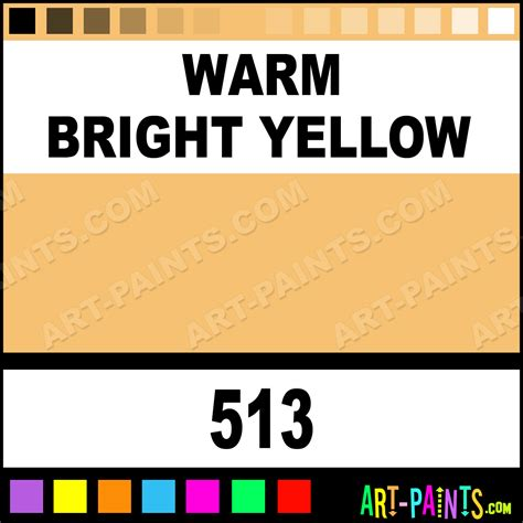 warm yellow warm bright yellow artists extra fine oil paints 513