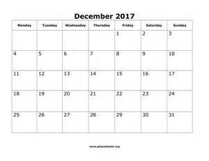 Calendar 2018 Monday To Sunday December 2017 Calendar Monday Sunday Calendar Template 2017