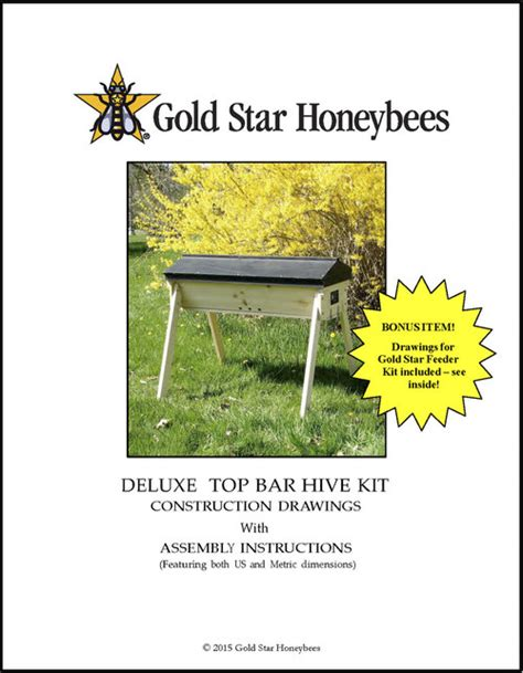 top bar beekeeping books top bar hive plans for advanced woodworkers gold star