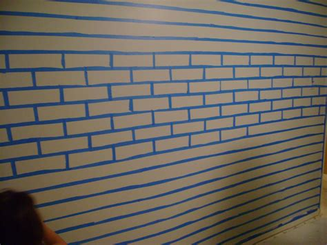 how i painted faux brick walls in the mancave frazzled mom and friends faux brick wall faux much fun