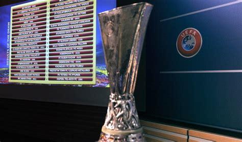 teste di serie europa league sorteggio europa league sedicesimi diretta ore 13
