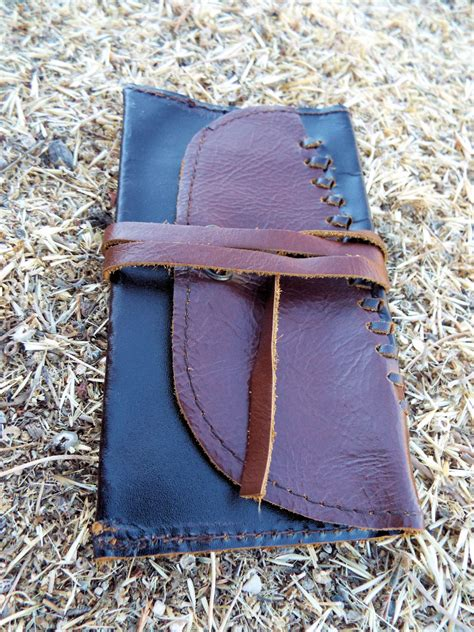 Handmade Leather Tobacco Pouch - tobacco pouch leather handmade genuine leather